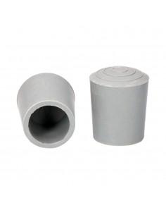 Contera para andadores gris sin arandela 25mm