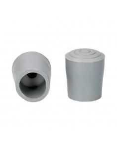Contera para andadores gris con arandela 25mm