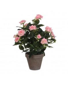 Rosal rosa pvc con maceta gris