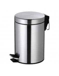 Mini cubo de basura - inox - 3l