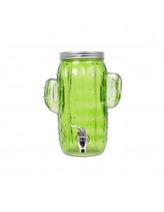 Dispensador de cristal con grifo modelo cactus 16x20x29cm