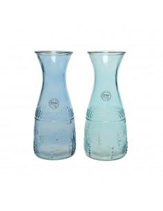 Botella cristal con relieve dia10x25cm 1100ml