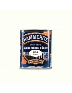 Hammerite esmalte metalico liso brillante blanco 0.750l