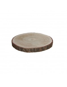 Base decorativa tronco madera h3xd30cm