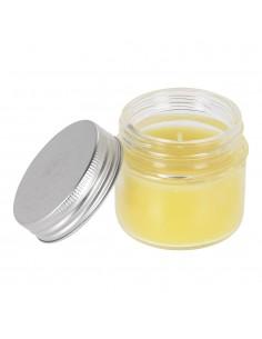 Vela citronela en vaso de cristal