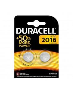 Pack 2 pilas boton cr2016 duracell