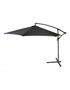 Parasol excentrico 270cm negro cuerpo aluminio