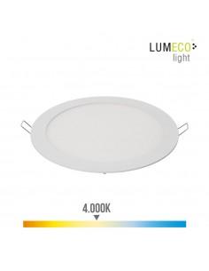 Downlight led empotrable 20w luz dia 4.000k 1500 lumens blanco lumeco