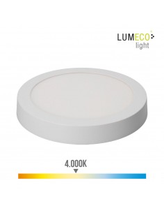 Downlight led superficie 20w 1500 lumens 4.000k luz dia blanco edm