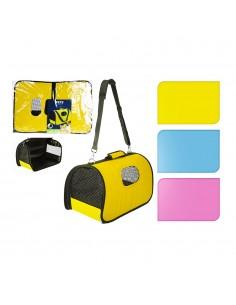 Bolsa porta animales domesticos 43x25x25cm colores surtidos
