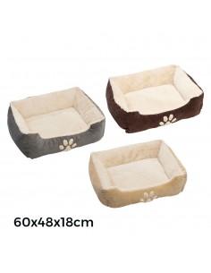 Cama de pana para perros 60x48x18cm