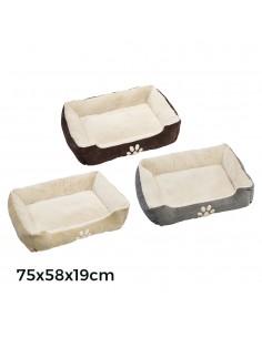 Cama de pana para perros 75x58x19cm