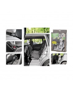 Protector asiento coche 135x145 cm negro poliester