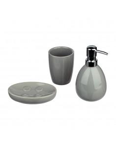 Conjunto para baño modelo sun color gris