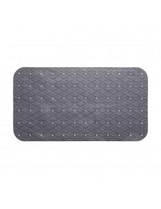 Alfombra ducha rectangular gris 69x39cm