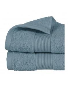 Toalla de rizo 450g color azul abeto 50x90