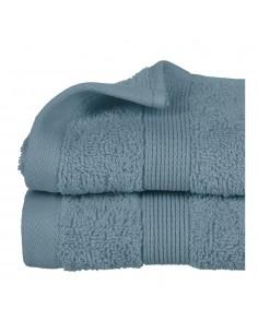 Toalla de rizo 450g color azul abeto 30x50