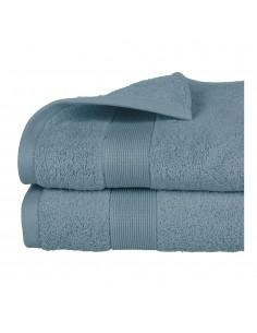 Toalla de rizo 450g color azul abeto 70x130