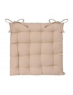 Cojin para silla estilo galleta color beige 38x38cm