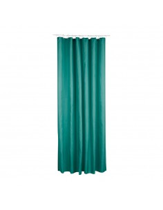 Cortina de ducha polyester color agua marina 200x180cm