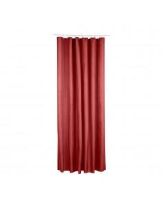Cortina de baño polyester color terra cota 200x180cm