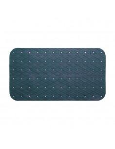 Alfombra ducha rectangular azul marino 69x39cm