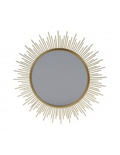 Espejo  modelo sol con marco metalico