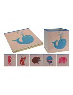 Caja organizadora infantil para estanteria 31x31x31cm