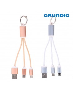 Cable usb tipo c, micro usb 13cm grundig