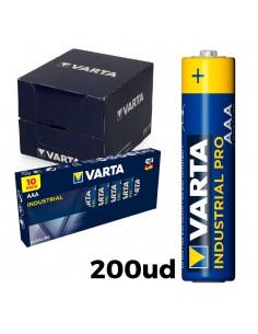 Pack 200 pilas aaa lr03  varta industrial pro