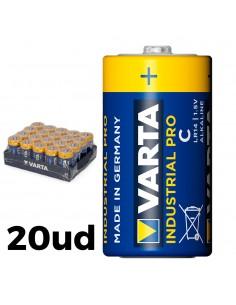 Pack 20 pilas lr14 c varta industrial pro