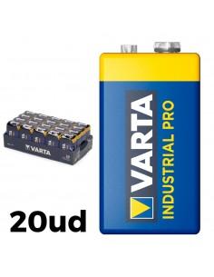Pack 20 pilas 6lr61 9v varta industrial pro