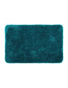 Alfombra de baño polyester color agua marina 90x60cm