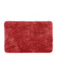 Alfombra de baño polyester color terra cota 90x60cm