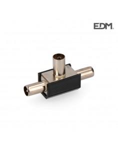 Derivador 1 base+2 clavijas negro blin. envasado edm