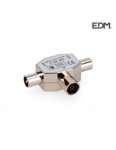 Derivador 1 base+2 clavijas metalico extra retractilado