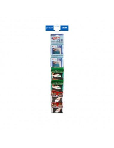 Tira de venta cruzada cleaning block incluye 77400 6 uni, 77401 6 uni, 77403 6 uni