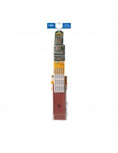 Tira de venta cruzada accesorios herramientas incluye 39182 4uni, 39187 4 uni, 08732 12uni, 08733 6uni