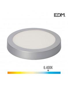 Downlight led superficie 20w 1500 lumens 6.400k luz fria cromo mate edm