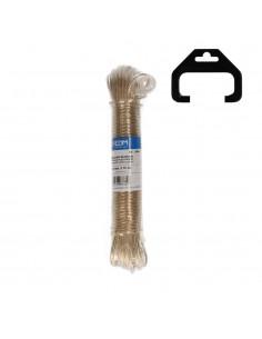 Madeja cable acero plastificado 15mt oro