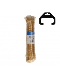 Madeja cable acero plastificado 25mt oro