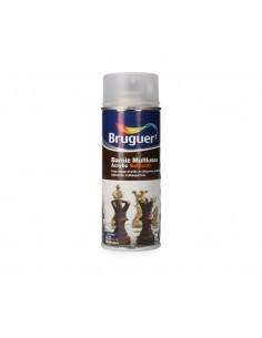 Barniz multiuso acrylic satinado spray incoloro 0.4l bruguer