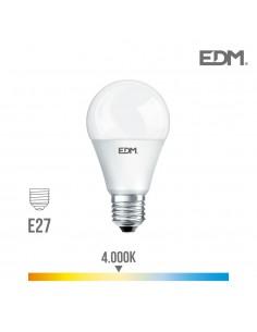 Bombilla standard led - smd - e27 - 20w - 2100 lumens - 4000k - luz dia- edm