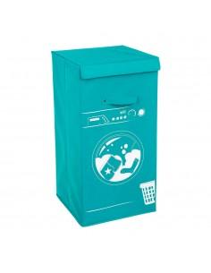 Cesta para la ropa color turquesa modelo lavadora