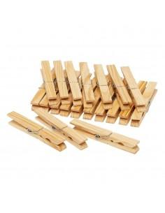 Pinzas de madera para la ropa xl 18 piezas