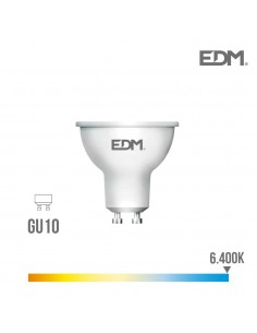 Bombilla led gu10 8w 600lumen 6.400k edm