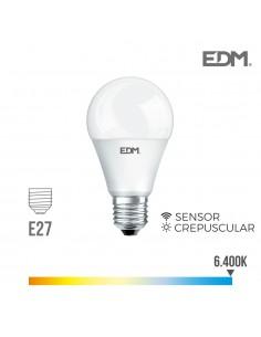 Bombilla led standard 10w 800lumen 6.400k sensor crepuscular