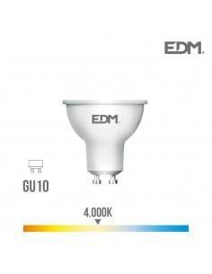 Bombilla led gu10 8w 600lumen 4.000k edm