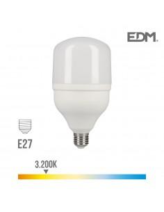 Bombilla led industrial 30w e27 3.200k t80 edm