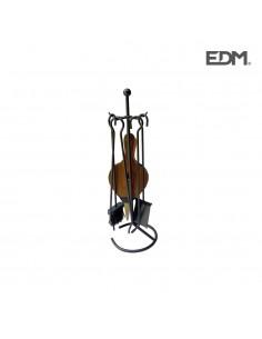 """Kit de chimenea """"deluxe"""" negro 5 piezas - edm"""
